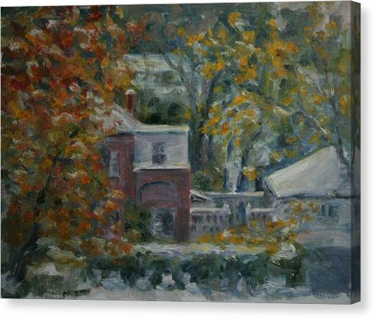 Early Snow Hartford Canvas Print