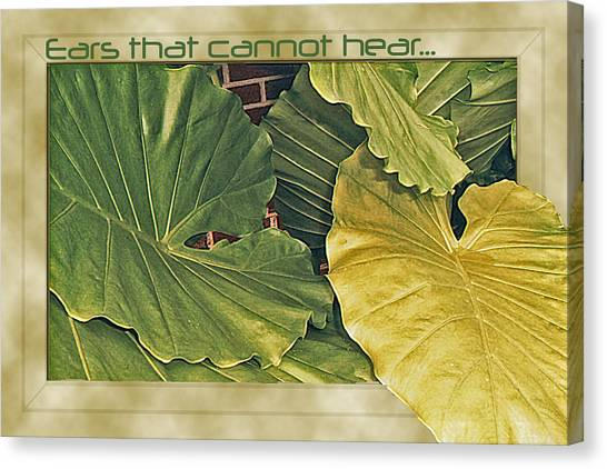 Ears That Cannot Hear... Canvas Print by Larry Bishop