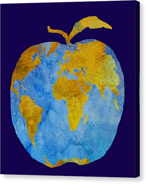 Professors Canvas Print - Earth Apple by Jenny Armitage
