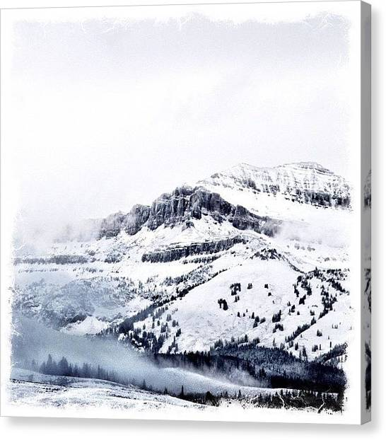 Wyoming Canvas Print - Easing Into #winter by Lisa King