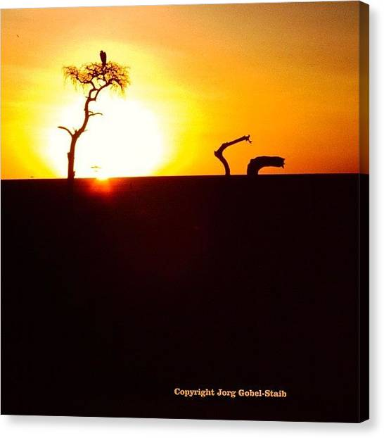 Kenyan Canvas Print - East African Sunset by Jorg Gobel-Staib
