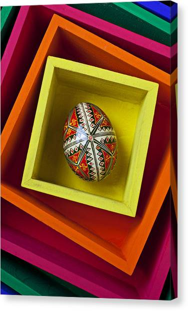 Easter Eggs Canvas Print - Easter Egg In Box by Garry Gay