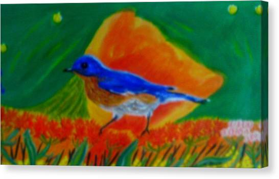 Eastern Bluebird Canvas Print by Annette Stovall
