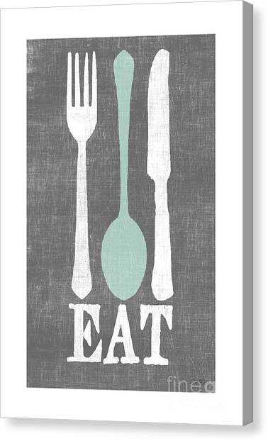 Meals Canvas Print - EAT by Misty Diller