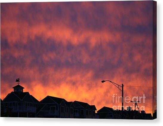Eat The Sky Canvas Print by Kerryn Davis