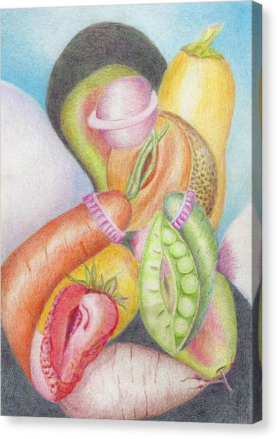 Eat Your Vegetables Canvas Print by Linda Pope