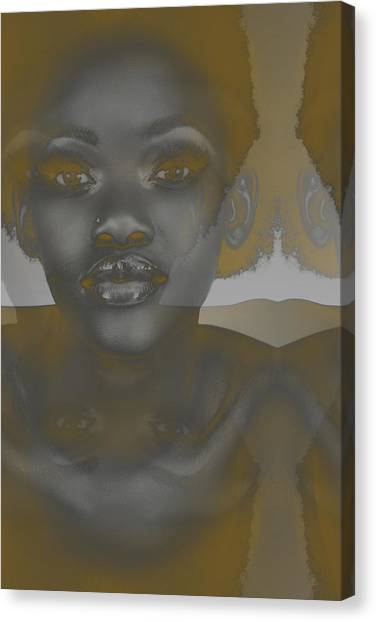 Ebony Canvas Print by Naxart Studio