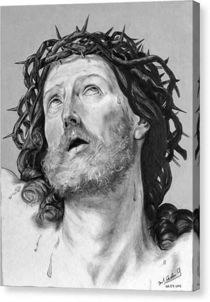Ecce Homo Canvas Print by Miguel Rodriguez