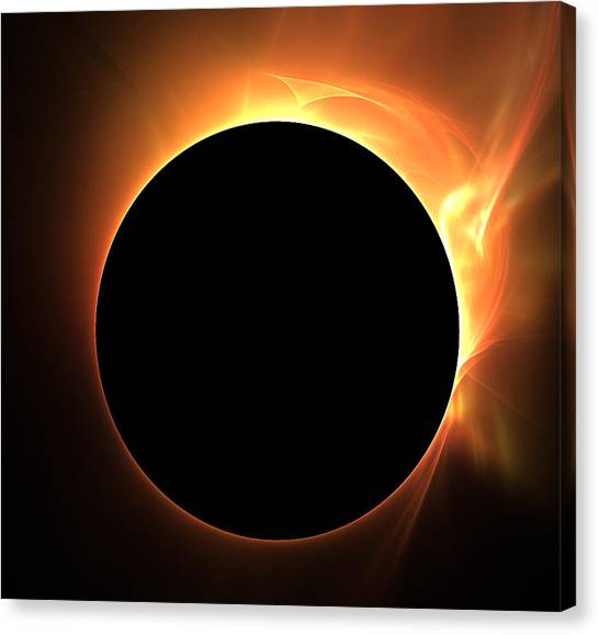 Eclipse Canvas Print by Kim French
