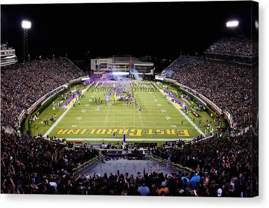 Conference Usa Canvas Print - Ecu  Dowdy-ficklen Stadium  by Rob Goldberg