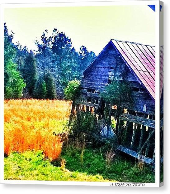 Barns Canvas Print - Edgemore Sc Drive By Shooting by Aaron Justice
