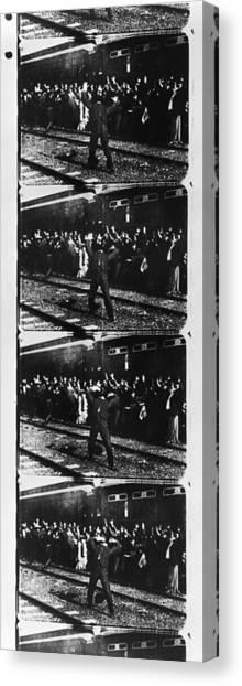 Thomas The Train Canvas Print - Edison: Film Strip, 1903 by Granger
