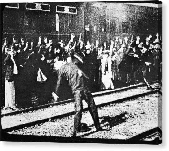 Thomas The Train Canvas Print - Edison: Movie Still, 1903 by Granger