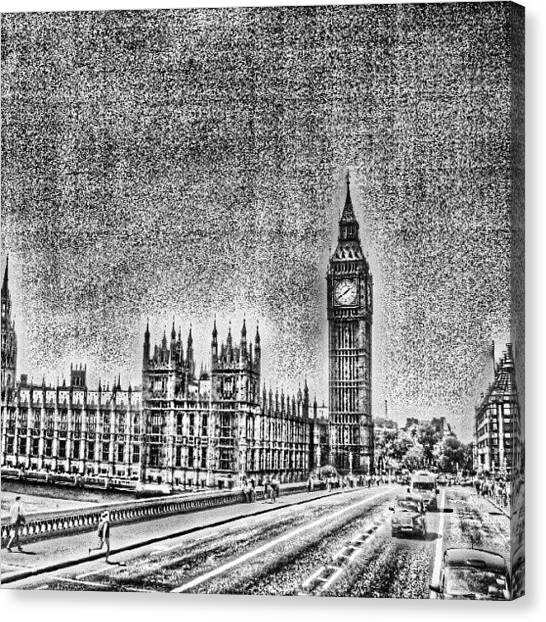 London Canvas Print - Edit Of The Day, #editeoftheday #london by Abdelrahman Alawwad
