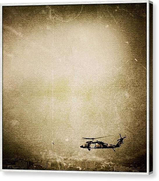 Army Canvas Print - Edited On Godfather With Lemeleme #sky by Luke Fuda
