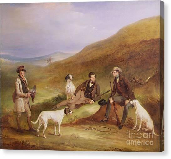 Keeper Canvas Print - Edward Horner Reynard And His Brother George by John E Ferneley