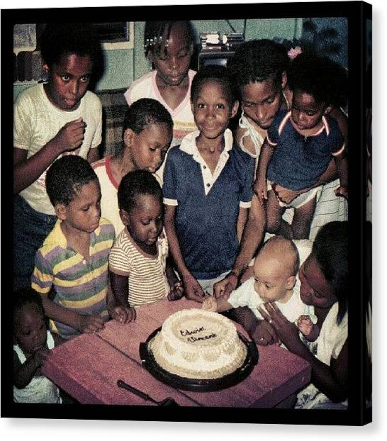 Meals Canvas Print - Edwin's_birthday_cake by Edwin Vincent
