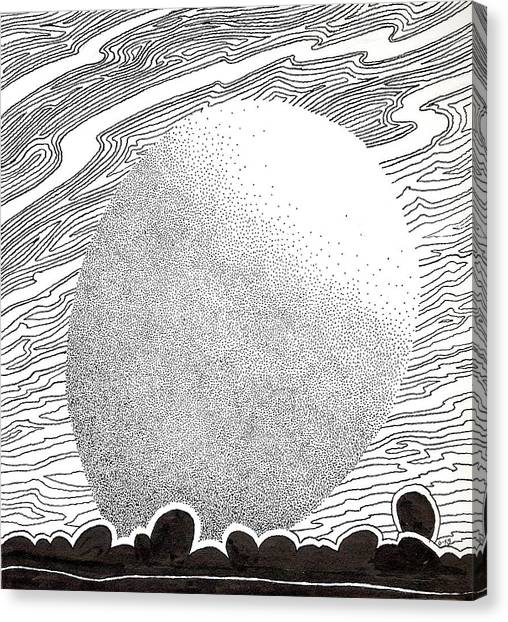 Egg Drawing 069827 Canvas Print