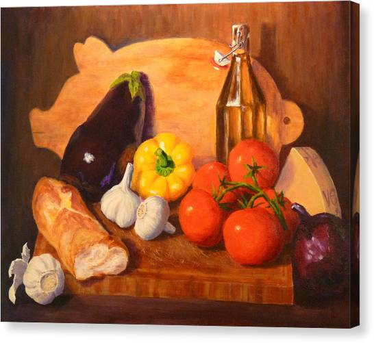 Eggplant Parmigiana Canvas Print