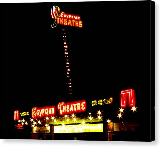 Egyptian Theatre In Coos Bay Oregon Canvas Print by Gary Rifkin