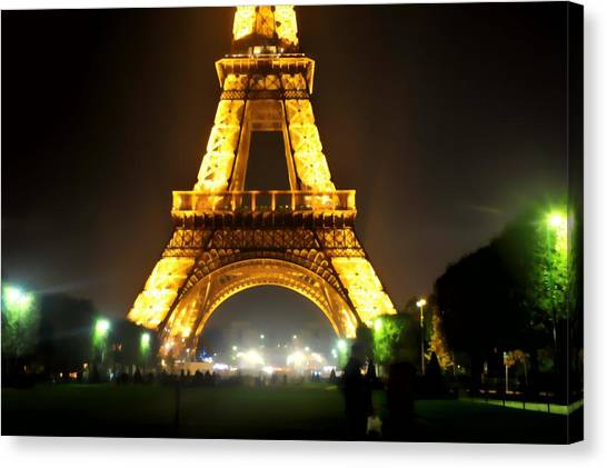 Eiffel Tower Abstract Canvas Print by Scott Massey
