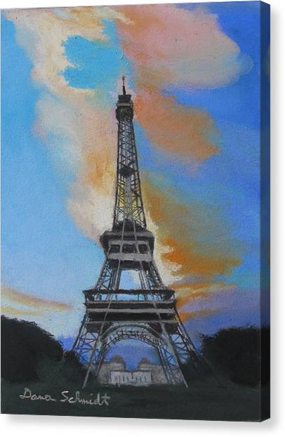 Eiffel Tower At Dusk Canvas Print