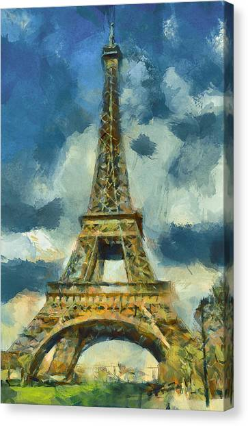 Eiffel Tower In Spring Canvas Print