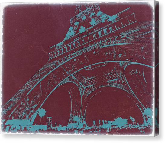 Eiffel Tower Canvas Print - Eiffel Tower by Naxart Studio