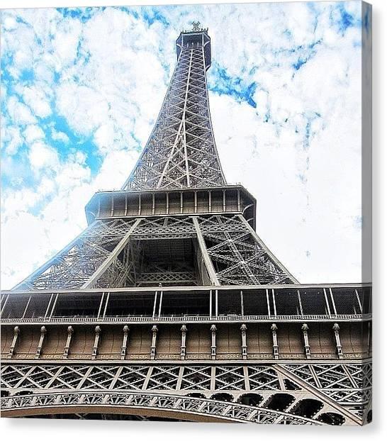 Paris Skyline Canvas Print - #eiffel #tower #paris #sky #skyporn by Ryan Richbourg