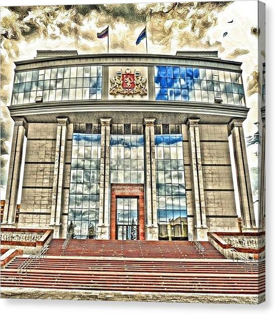 Russia Canvas Print - Ekaterinburg. Goverment Building by Igor Che 💎