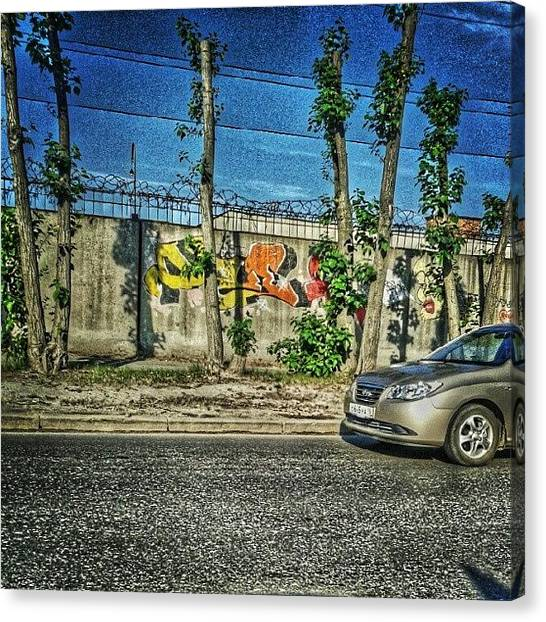 Russia Canvas Print - Ekaterinburg Wallart. #graffiti by Igor Che 💎
