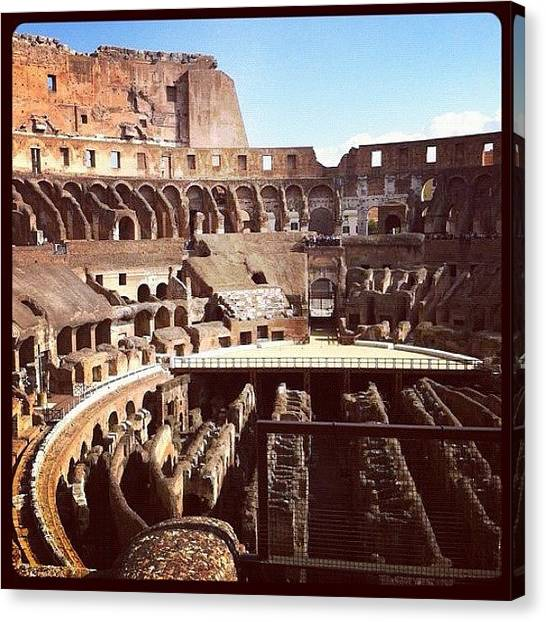 Rome Canvas Print - El Coliseo by Marce HH