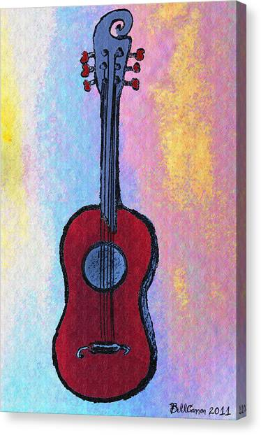 Dye Canvas Print - El Kabong by Bill Cannon