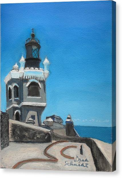El Morro Fort In Old San Juan Puerto Rico Canvas Print