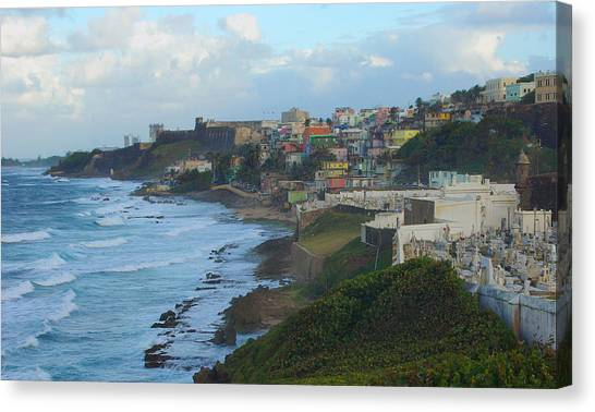 El Morrow With San Juan Seashore Canvas Print