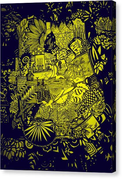 El Pescador Canvas Print by MikAn 'sArt