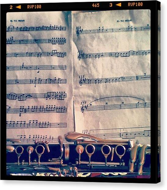 Wind Instruments Canvas Print - El Tri Medley. #clarinet #clarinete by Valeria Valerio