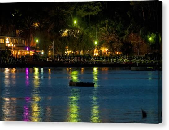 Elba Island - Night Sea Reflections - Ph Enrico Pelos Canvas Print