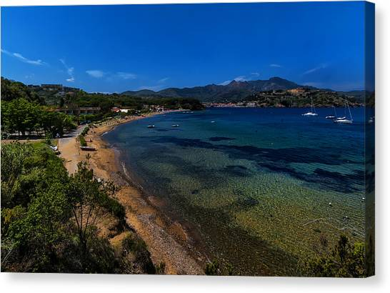 Elba Island - On The Beach 1 - Ph Enrico Pelos Canvas Print
