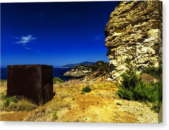 Elba Island - Rusty Iron Cube Landscape - Ph Enrico Pelos Canvas Print