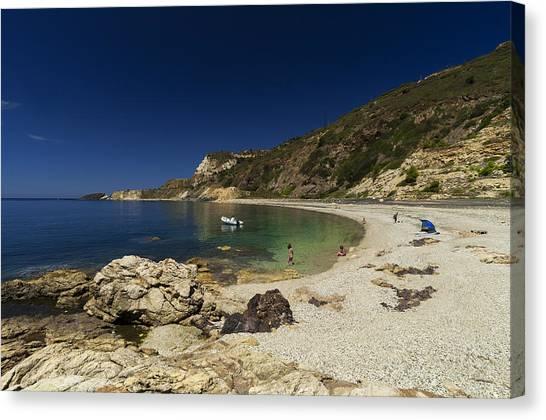 Elba Island - Solitary Beach - Spiaggia Solitaria - Ph Enrico Pelos Canvas Print