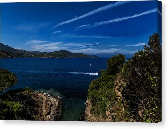 Elba Island - Blue And Green 1 - Blu E Verde 1 - Ph Enrico Pelos Canvas Print