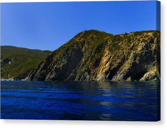 Elba Island - Blue And Green 2 - Blu E Verde 2 - Ph Enrico Pelos Canvas Print
