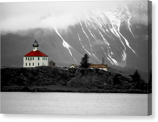 Eldred Rock Alaska Canvas Print by Carrie OBrien Sibley