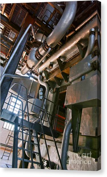 Chemicals Canvas Print - Electric Plant by Carlos Caetano