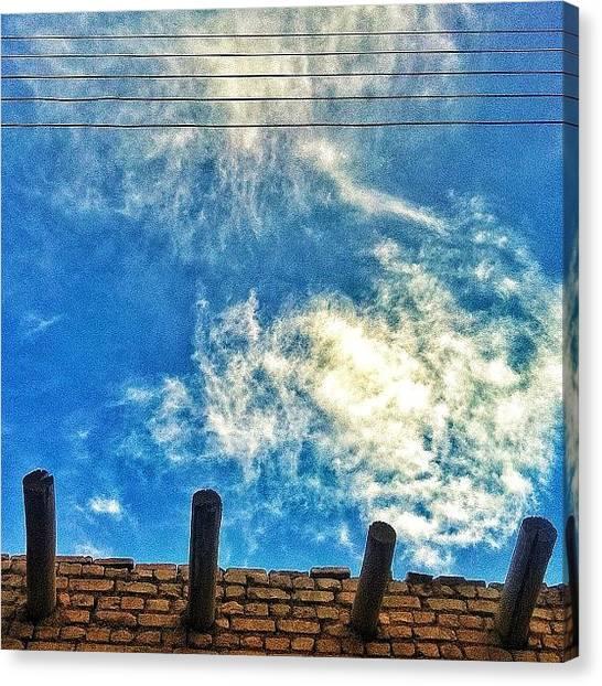 Iranian Canvas Print - #electricalsky #cloud #sky #iran #yazd by Keyvan Shokrollahi