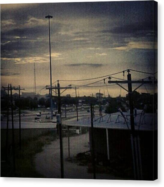 #electricalsky Canvas Print by Kel Hill