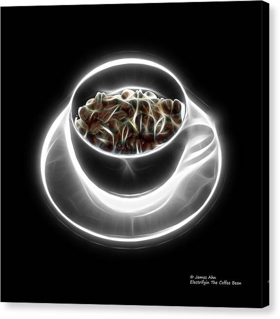 Electrifyin The Coffee Bean -version Greyscale Canvas Print