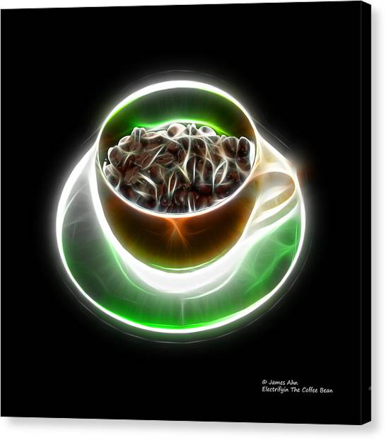 Electrifyin The Coffee Bean -version Orange Canvas Print