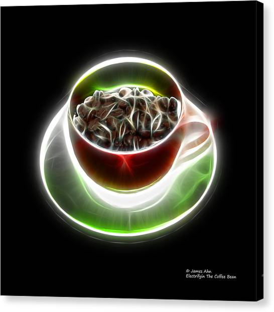 Electrifyin The Coffee Bean -version Red Canvas Print